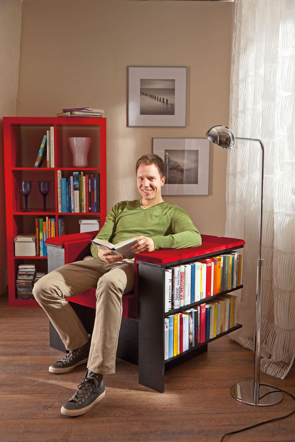 Πολυθρόνα-βιβλιοθήκη - Μαστορέματα
