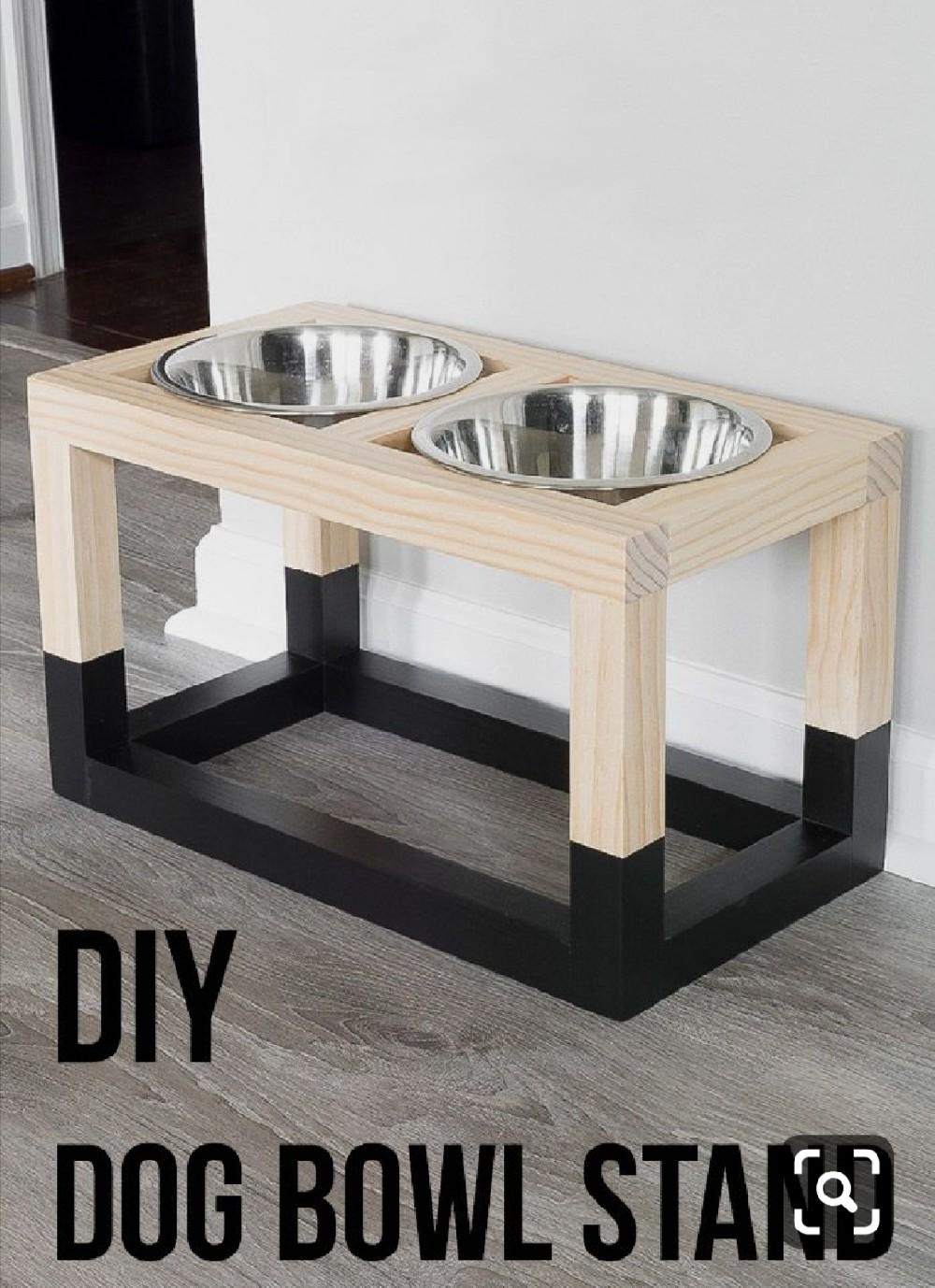 Stand φαγητού και νερού για σκύλους - Μαστορέματα